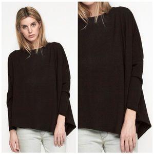 Helmut Lang   Villous Asymmetrical Sweatshirt Sz M
